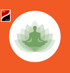 yogi in the lotus position vector image