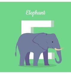 Animals Alphabet Letter - E vector image vector image