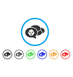 baby dreams rounded icon vector image