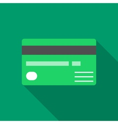 Colorful credit card icon in modern flat style vector image vector image
