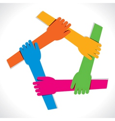 colorful hand show unity vector image
