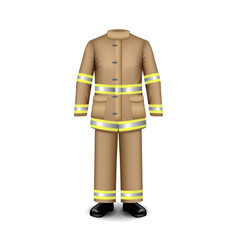 fire uniform isolated on white vector image vector image