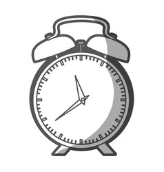 grayscale silhouette of alarm clock vector image vector image