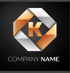 letter k logo symbol in the colorful rhombus on vector image vector image