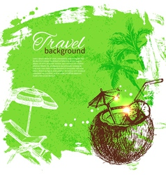 Travel colorful tropical design vector image vector image
