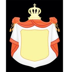 empty coat of arms vector image vector image