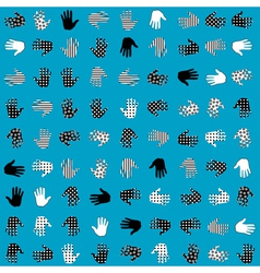 palm texture vector image