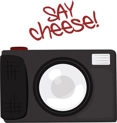 Say Cheese vector image vector image