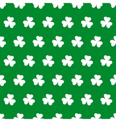 Shamrock seamless background vector image vector image