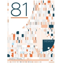 Abstract geometric composition vector image