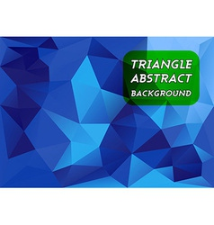 Blue Triangles vector image vector image