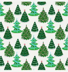 christmas tree ornament star xmas gift vector image vector image