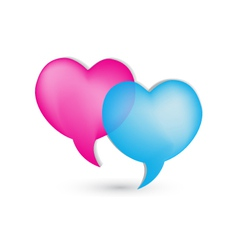 Love speech bubbles logo vector