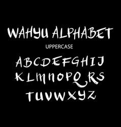 wahyu uppercase alphabet typography vector image