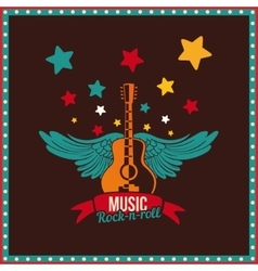 Winged guitar vector image