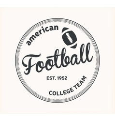 American Football logo vector image