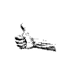 hand showing thumb up 8 bit minimalistic pixel vector image vector image