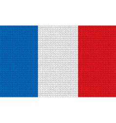 knitted France flag vector image