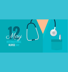 12 may international nurse day background vector image