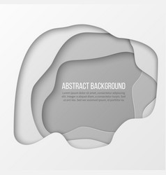 Abstract white paper cut layered background vector