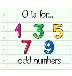 Alphabet O is for odd numbers vector