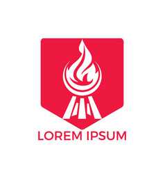 barbecue logo design vector image