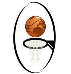 Basketball 1 vector image