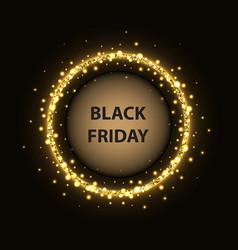 black friday circle poster vector image