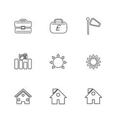 Breifcase money pound home ecology sun vector