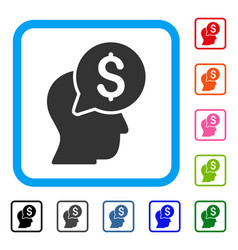 businessman think framed icon vector image