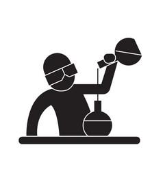 chemist at work black concept icon chemist vector image