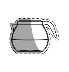 coffee glass pot vector image