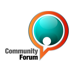 Community forum vector