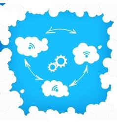 Concept modern cloud technologies vector