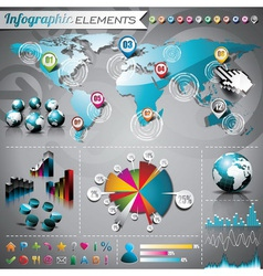 design set of infographic elements vector image