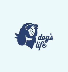 Dog logo vector