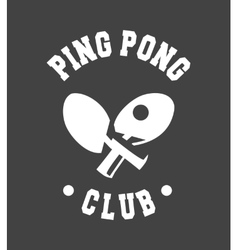 emblem Ping Pong vector image
