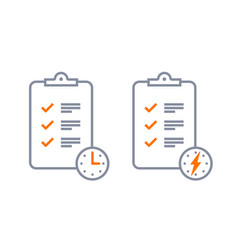 fast service brief checklist survey icon vector image