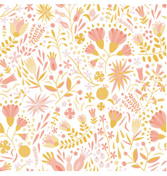floral seamless pattern with motley flowers and vector image
