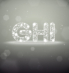 Glowing Font from G to I on Bokeh Backgroun vector