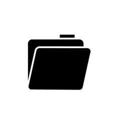 Glyph folder icon with documents folder flat vector
