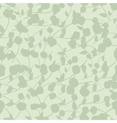 green background with silhouette of plant vector image
