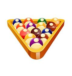 icon pool ball vector image