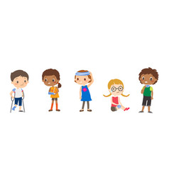 injured children cartoon vector image