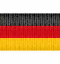 knitted Germany flag vector image