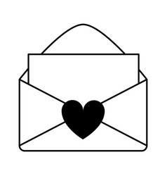 Letter and envelope love valentines day related vector