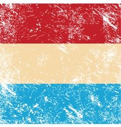 Luxembourg retro flag vector image