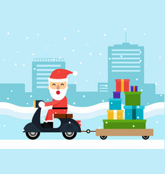 merry christmas and happy new year concept flat vector image