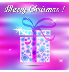 Merry christmas gift on a background vector image