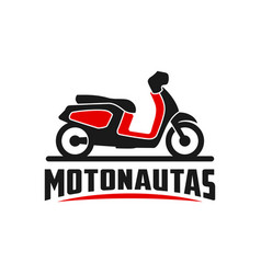 motorcycle scooter logo vector image